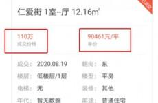 济南仁爱街小区现天价学区房 12平米旧房卖价110万